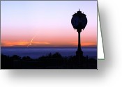 Trump Golf Course Greeting Cards - Sunset at the Trump  Greeting Card by Victoria  Johns