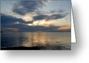 Sunset Posters Greeting Cards - Sunset Bay 2 Greeting Card by Joyce StJames