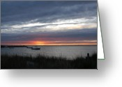 Sunset Posters Greeting Cards - Sunset Bay 3 Greeting Card by Joyce StJames