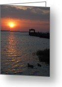 Sunset Framed Prints Greeting Cards - Sunset Bay 38 Greeting Card by Joyce StJames