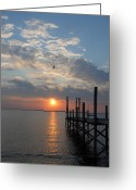 Sunset Framed Prints Greeting Cards - Sunset Bay 39 Greeting Card by Joyce StJames
