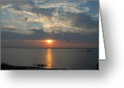 Sunset Framed Prints Greeting Cards - Sunset Bay 40 Greeting Card by Joyce StJames