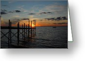 Sunset Framed Prints Greeting Cards - Sunset Bay 41 Greeting Card by Joyce StJames