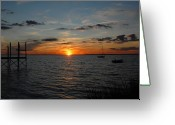 Sunset Framed Prints Greeting Cards - Sunset Bay 42 Greeting Card by Joyce StJames