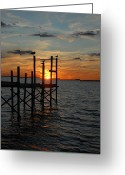 Sunset Framed Prints Greeting Cards - Sunset Bay 44 Greeting Card by Joyce StJames