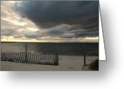 Sunset Posters Greeting Cards - Sunset Bay 52 Greeting Card by Joyce StJames