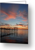 Sunset Posters Greeting Cards - Sunset Bay 56 Greeting Card by Joyce StJames