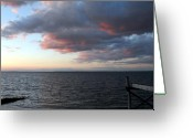 Sunset Posters Greeting Cards - Sunset Bay 6 Greeting Card by Joyce StJames