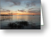 Sunset Posters Greeting Cards - Sunset Bay 60 Greeting Card by Joyce StJames