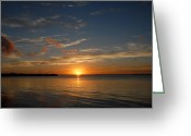 Sunset Posters Greeting Cards - Sunset Bay 61 Greeting Card by Joyce StJames