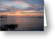 Sunset Posters Greeting Cards - Sunset Bay 63 Greeting Card by Joyce StJames