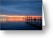 Sunset Posters Greeting Cards - Sunset Bay 65 Greeting Card by Joyce StJames