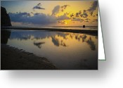 St. Lucia Photographs Greeting Cards - Sunset Greeting Card by Bill Mortley