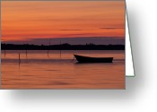 Canary Greeting Cards - Sunset Boat Greeting Card by Gert Lavsen