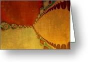 Fractal Art Greeting Cards - Sunset Greeting Card by Bonnie Bruno