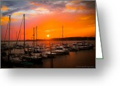 Bonnes Eyes Fine Art Photography Greeting Cards - Sunset Cay Greeting Card by Bonnes Eyes Fine Art Photography