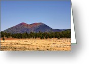 Az Greeting Cards - Sunset Crater Volcano National Monument Greeting Card by Christine Till