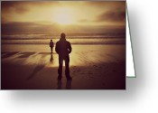 Sennen Greeting Cards - Sunset Dream 1 Greeting Card by Zoe Ford
