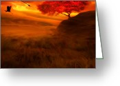 Longevity Greeting Cards - Sunset Duet Greeting Card by Lourry Legarde