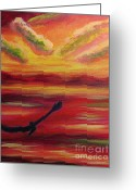 Diana Riukas Greeting Cards - Sunset Flight Greeting Card by Diana Riukas