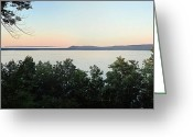 Inspiration Point Greeting Cards - Sunset from Inspiration Point Greeting Card by Twenty Two North Gallery