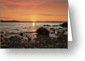Point Park Greeting Cards - Sunset Glow Greeting Card by Alexander Mendoza