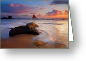 Dusk Greeting Cards - Sunset Glow Greeting Card by Mike  Dawson