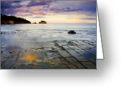 Reflect Greeting Cards - Sunset Grid Greeting Card by Mike  Dawson