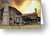 Marty Koch Greeting Cards - Sunset Homestead Greeting Card by Marty Koch