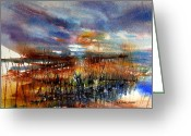 Julianne Felton Greeting Cards - Sunset Horizon I Greeting Card by Julianne Felton