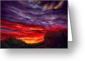 Nh Greeting Cards - Sunset II Greeting Card by Elaine Farmer