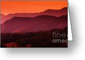 Alberta Foothills Landscape Greeting Cards - Sunset In Alberta Greeting Card by Bob Christopher