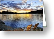 Adirondack Greeting Cards - Sunset in Algonquin Park Greeting Card by Elena Elisseeva