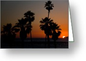 San Clemente Pier Greeting Cards - sunset in Califiornia Greeting Card by Ralf Kaiser