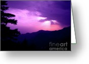 Nainital Photo Greeting Cards - Sunset in Nainital Greeting Card by Ankeeta Bansal