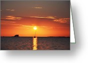Florida Sunset Greeting Cards - Sunset in the Tropics Greeting Card by Bill Cannon
