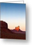 Monument Valley Photo Greeting Cards - Sunset in the Valley Greeting Card by David Bowman