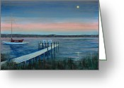 Petoskey Painting Greeting Cards - Sunset in Weque Greeting Card by Klaus Knuth