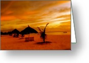 Lanscape Photo Greeting Cards - Sunset in Zanzibar Greeting Card by Joe  Burns