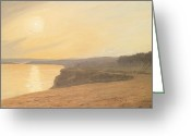 Shores Painting Greeting Cards - Sunset Greeting Card by James Hallyar