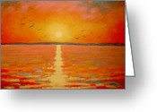 Light Greeting Cards Greeting Cards - Sunset Greeting Card by John  Nolan