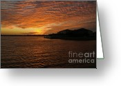 Generic Greeting Cards - Sunset  Greeting Card by Juan  Silva
