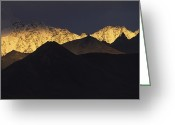 Image Type Photo Greeting Cards - Sunset Light On Mountains In Chugach Greeting Card by Michael Melford