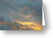 Mood Greeting Cards - Sunset Greeting Card by Lyubomir Kanelov
