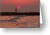 Glenn Mccurdy Greeting Cards - Sunset Magic Greeting Card by Glenn McCurdy
