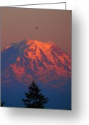 Clods Greeting Cards - Sunset Mountain  Greeting Card by Jim Moore