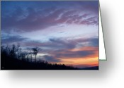The Nature Of Sunsets Greeting Cards - Sunset Mountain Wave Greeting Card by Debra     Vatalaro