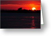 Manhattan Sunset Greeting Cards - Sunset near Manhattan 3 Greeting Card by Dennis Clark