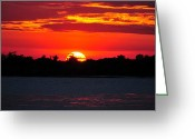 Manhattan Sunset Greeting Cards - Sunset near Manhattan 4 Greeting Card by Dennis Clark