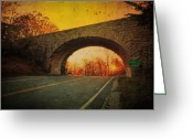 Blue Ridge Photographs Greeting Cards - Sunset On Blue Ridge Parkway Greeting Card by Kathy Jennings